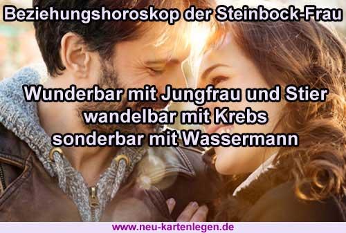 Beziehungshoroskop der Steinbock-Frau