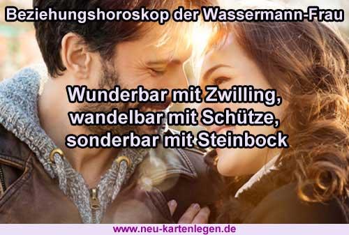 Beziehungshoroskop der Wassermann-Frau