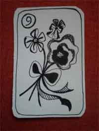 Lenormandkarte die Blumen